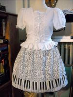 PiaNote Skirt by spookydarling