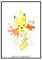Pikachu Watercolor by Meep-and-Mushrat