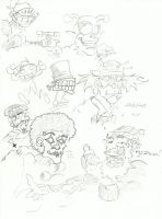 Random sketches - Oddities by WorldOfWarcraftFan