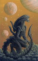 Xenomorph Joe finished by Alanpaints