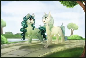 Commission - Park Stroll by MiaMaha