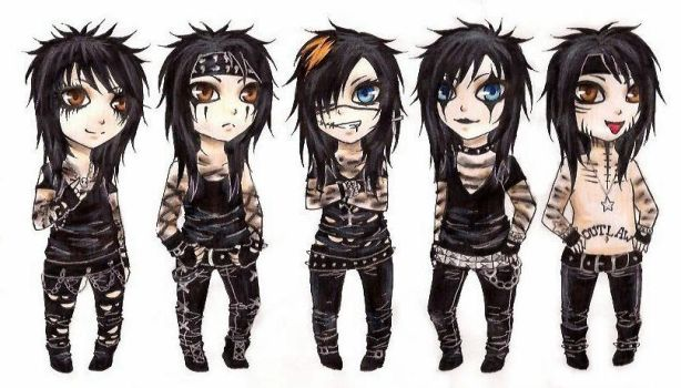 BVB Chibis :3 by xMidnight-Dream13x