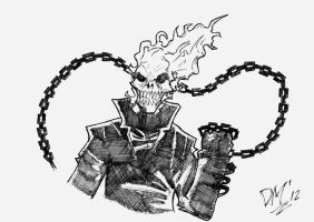 Ghost Rider sketch by Dark Man 2012 by DarkManSunrise