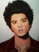 Bruno Mars colored drawing end result by xjorieke