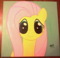 Fluttershy Canvas Painting by Sketchitsketch