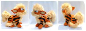 Comm- Arcanine Plush by FollyLolly