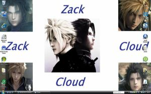 Zack and Cloud wallpaper by del-kai-boi