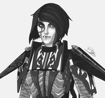 Sketch#4 Edgy Sith Lord by DoctorEuthanasia