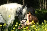 Gypsy girl and her horse by LadyUrsula