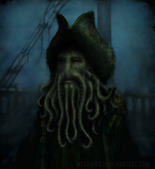 Davy Jones speedpaint by MyEpicRilla