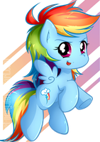 Chibi Rainbow Dash by secret-pony