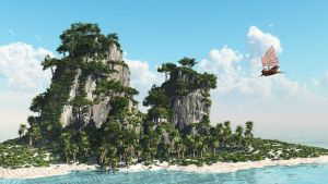 Flying to Little Island by hoangphamvfx