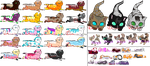 All Unadopted Kittens sheet 3 :open: by NightRaven-Adopts