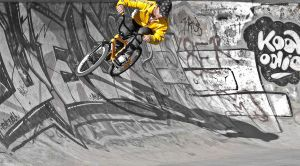 BMX on the wall by darkani