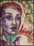Water colour portrait  by Talena-caro