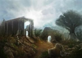Ruins of a Temple by Smaragdia