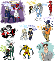 Mini (ish) Marvel Sketch dump 7 by Squidbiscuit