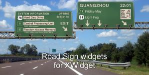 Road Sign Widgets for xwidget by jimking