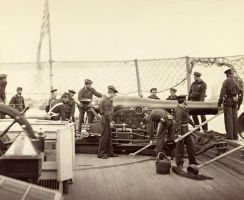 USS Mendota Gun Crew James River Virginia Augu by lichtie