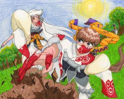 Sesshomaru and Me Final Battle by PandaRevolution