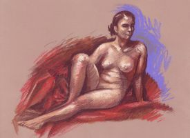 Nude seated by Harnois75