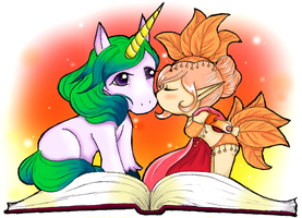 The Elf and the Unicorn by Cherielou