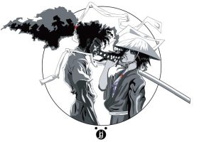 Afro vs Jubei by beveon