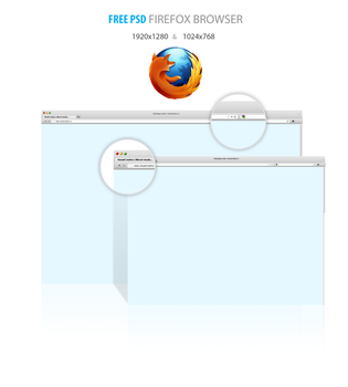 Free psd firefox browser by Visual-Creative
