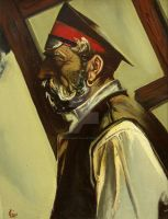 Old cossack by AmsterdamArtGallery