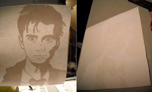 David Tennant Vinyl cut by photozz