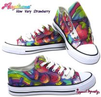 How Very Strawberry Low Tops by marywinkler