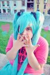 Vocaloid - Blue and Pink by CherryMemories