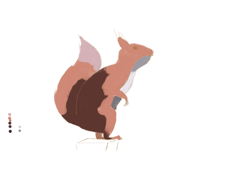 Red squirrel WIP by AliMacArt