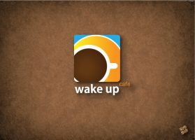 Wake up 'cafe logo by SaraALMukhaini