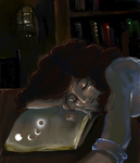 Hermione Bibliophile paintover by morosemordant