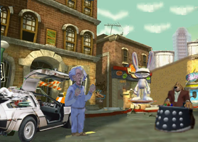 Doc Brown Meets Sam and Max by JenniBee