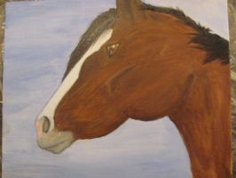 final horse painting by karkat-the-owl