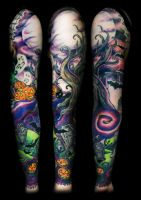 Halloween Sleeve Finished by filthmg