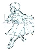 Power Girl Lines preview by gh07