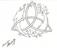 Dolphins in Triquetra by CyanideSilence