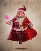 Santa Claus super hero by jordygraph