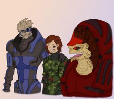 Mass Effect - We Did It by SheepDoodle