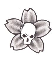 Skull plus Flower equals... by Tor-rr