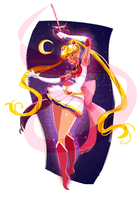 Sailormoon Daily sketch by Sakurabe