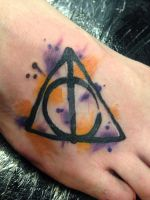 Harry Potter - Deathly Hallows -apprentice tattoo- by techn0vert
