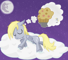 Sleeping Derpy by Robsa990