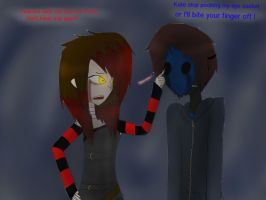 Me and eyeless jack by KillingKate1