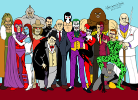 Villains Marvel and DC by GustavoMorales