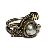 Steampunk golden ring by CatherinetteRings