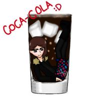 Drowning in Coke .:Cup Collab:. by VickVicka